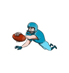 American football player touchdown drawing vector