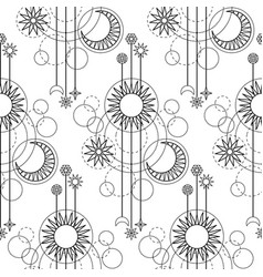 astrology modern seamless pattern vector image vector image