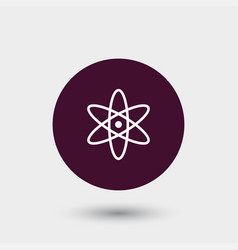 Atom icon simple vector