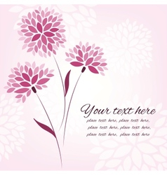 background with flowers card template vector image
