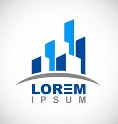 business modern building logo vector image vector image