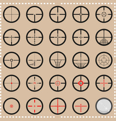 Collection of crosshairs vector