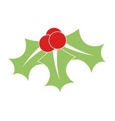 colorful mistletoe icon vector image vector image