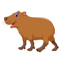 Cute capybara cartoon vector