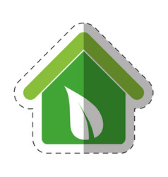 Environment house recycling icon vector