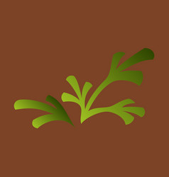Flat leaves logo template vector