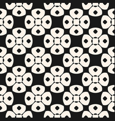 geometric monochrome ornament seamless pattern vector image vector image