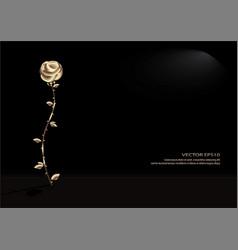 Golden rose vector