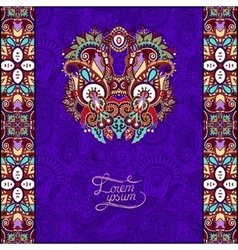 Invitation card with neat ethnic violet background vector