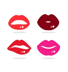 Kiss lip vector