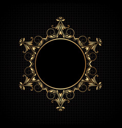 luxury frame background vector image