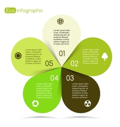 Modern info graphic for eco project vector image vector image