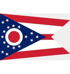 Ohio Flag vector image