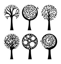 Ornate trees vector