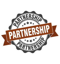 Partnership stamp sign seal vector