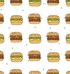 Pattern hamburger cheeseburger vector
