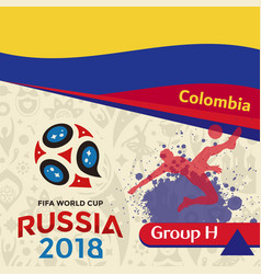 Russia 2018 wc group h colombia background vector