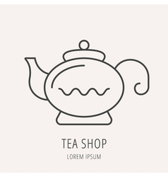 Simple logo template tea vector