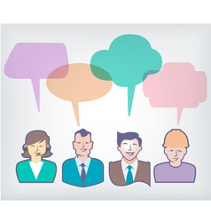 speech baloons People vector image