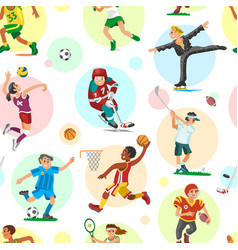 sport people woman and man flat fitness activities vector image vector image