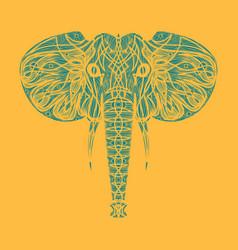 Stylized ethnic boho elephant portrait isolated vector