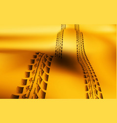 Tire tracks on sand background vector