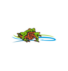 toad bait logo vector image vector image