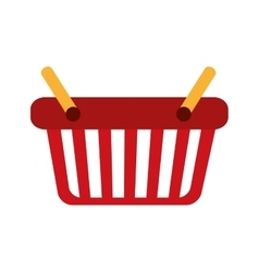 Shopping basket market design vector