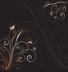 Decorative floral background 0612 vector