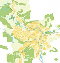 Map of the city vector