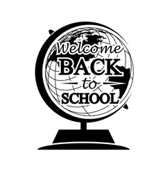 Globe back to school vector