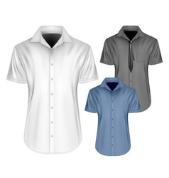 mens short sleeved vector image