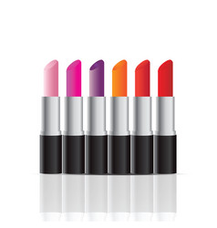 Cosmetics store display products of color vector