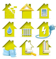 Home Construction Icons vector image