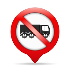 No Trucks Sign vector image