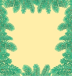 Frame of the branches of spruce textured vector