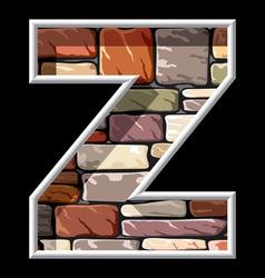 stone letter Z vector image