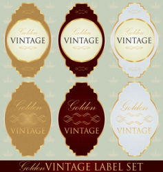 Gold label set vector