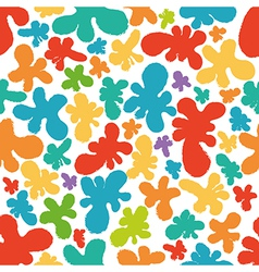 Colorful eseamless pattern of blots vector