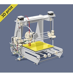 Plastic 3d printer vector