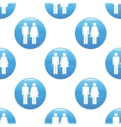 Man and woman sign pattern vector