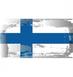 Finland national flag vector image