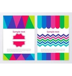 color brochures vector image