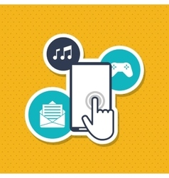 Smartphone icon design vector