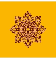 Islam henna ornament geometric star element in vector