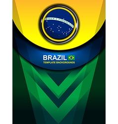 Brazil flag color backgrounds design vector