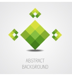 Abstract green shape background vector