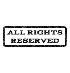 All rights reserved watermark stamp vector