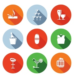 Bar flat icons set vector image vector image