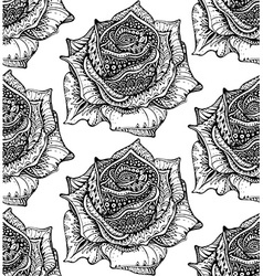 Beautiful seamless pattern with hand drawn ornate vector